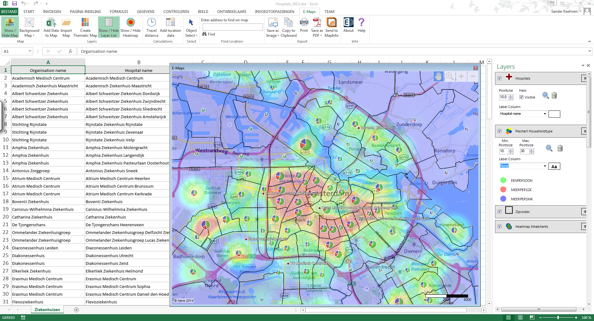 excel e-maps  your data will remain yours