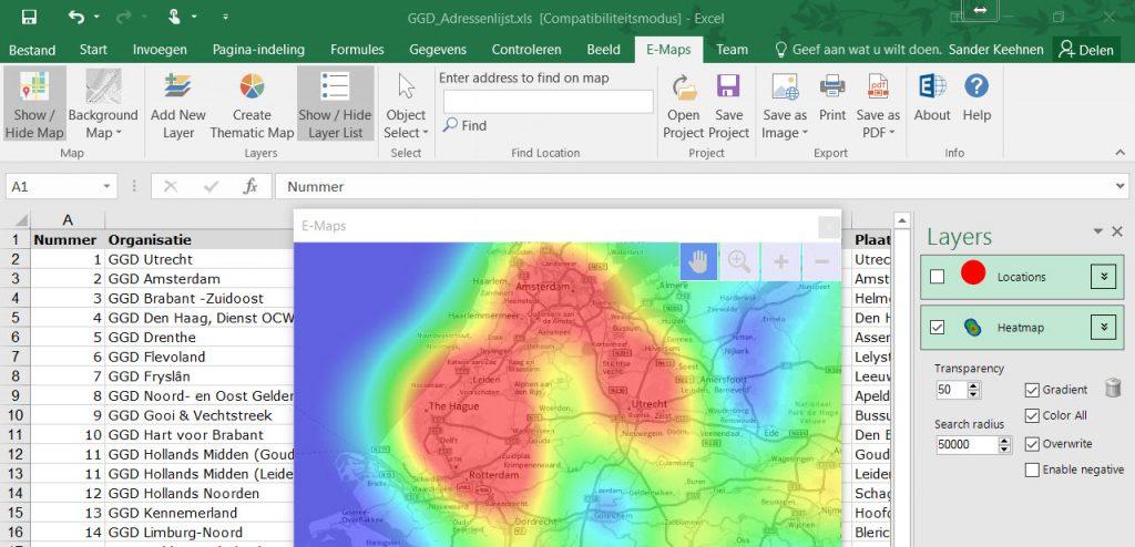 Excel E-Maps trial