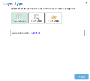 Select layer type