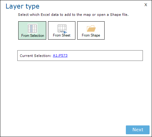 Layer Type From Selection