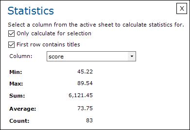 Statistics; Statistieken