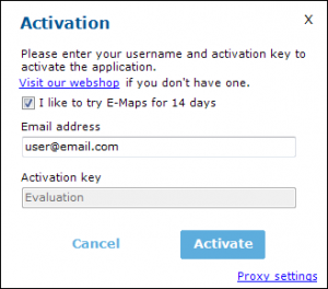 Steps to activate E-Maps