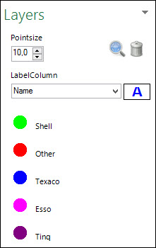 Labels beheren vanuit layer control