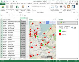 Excel GIS thematic map
